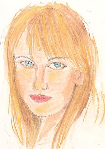 ニコール・キッドマン似顔絵画像