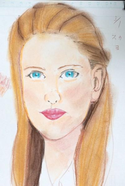スカーレット・ヨハンソンの似顔絵画像
