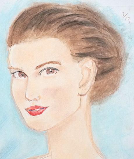 ナタリー・ポートマンの似顔絵